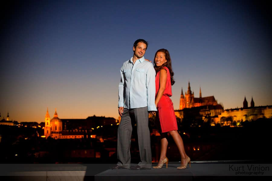 Engagement portraits Prague: Akiko & Jakub Engagement portrait session