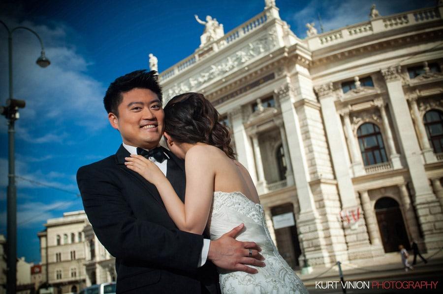 Vienna Pre-Wedding Photographer / Mavis & Henry portraits in the center of Vienna