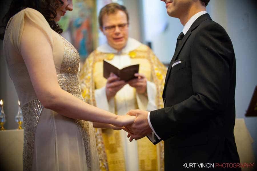 Prague wedding elopement / photography / Libby & Scott inside St. Phillips and James church