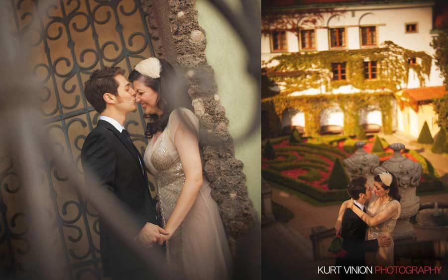 Prague wedding elopement / photography / Libby & Scott in Vrtbovska Garden (Zahrada)