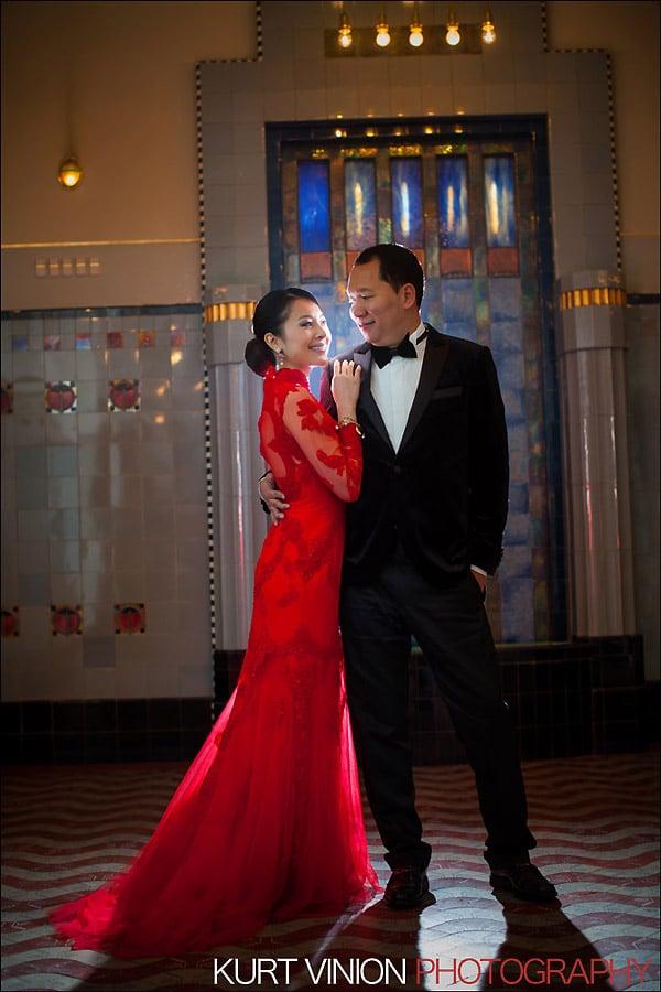 Prague pre wedding photography / Helen & CY winter pre wedding portraits at Obecni Dum