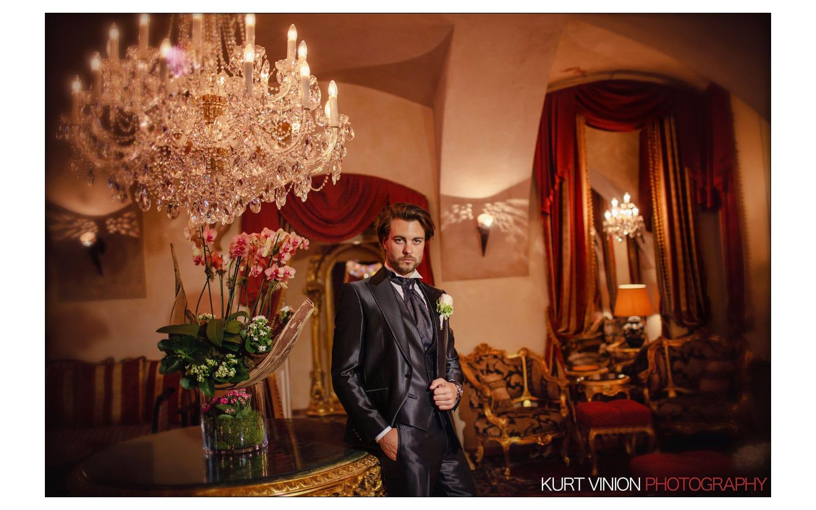Prague Clementinum wedding / Jess + James - groom portraits at the Alchymist