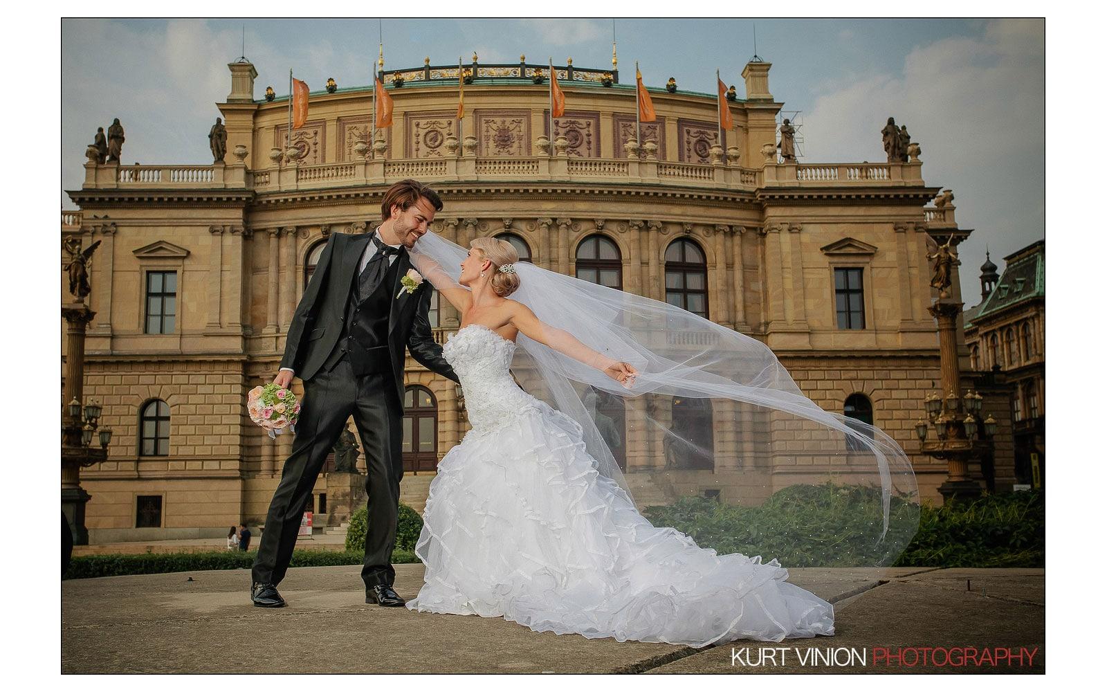 Prague Clementinum wedding / Jess + James - wedding portraits at the Rudolfinum