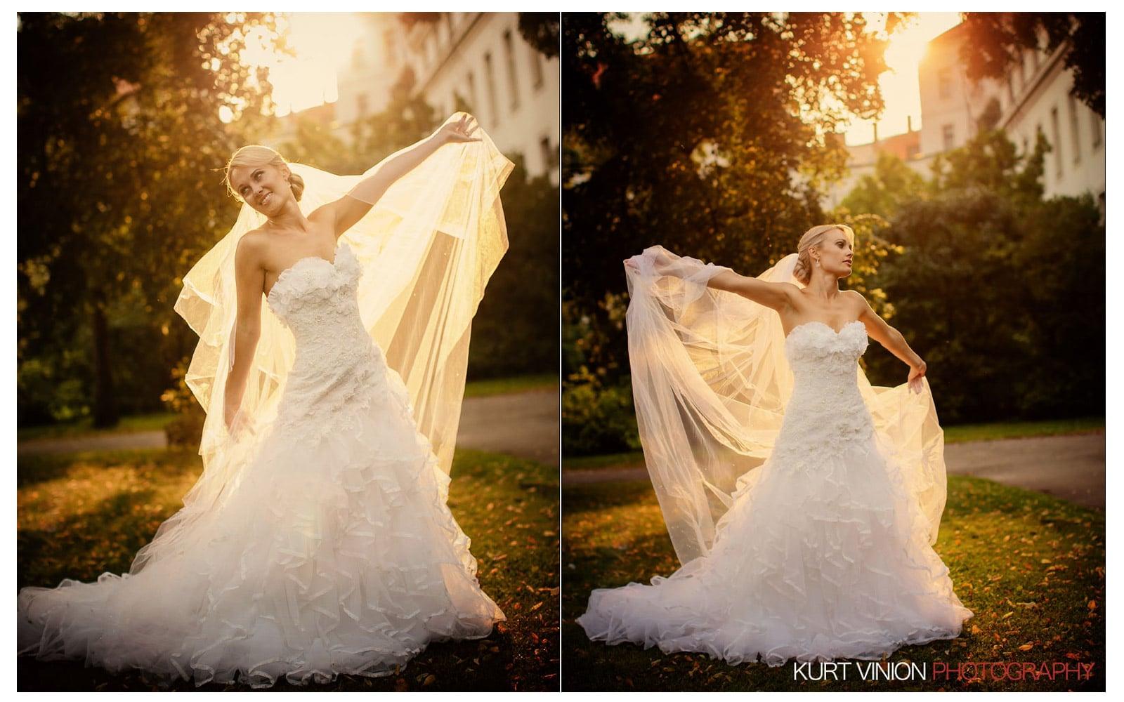 Prague Clementinum wedding / Jess + James - stunning bridal portraits in Prague