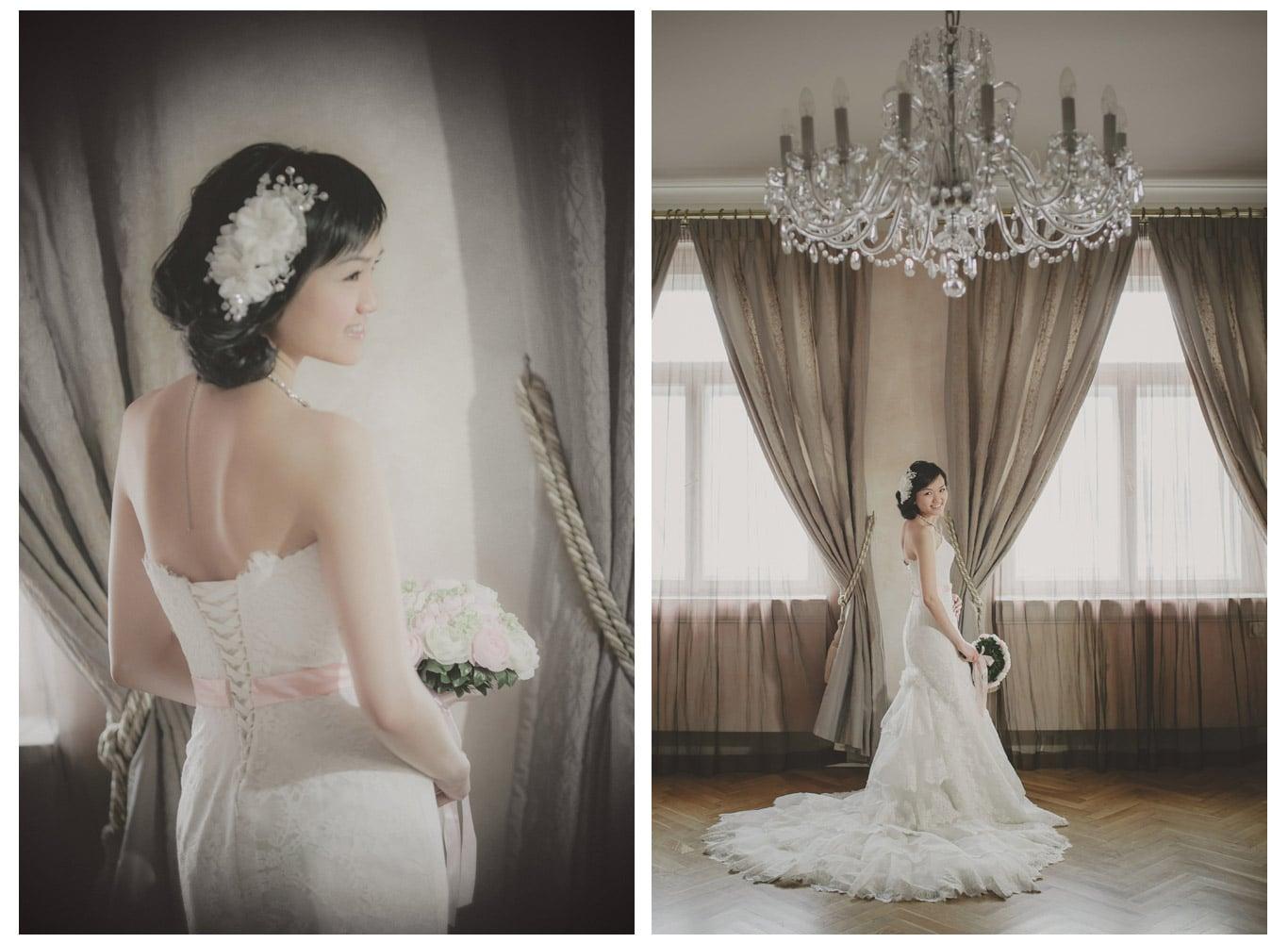 Prague pre wedding / Suki & Steven / portrait session at the Pachtuv Palace