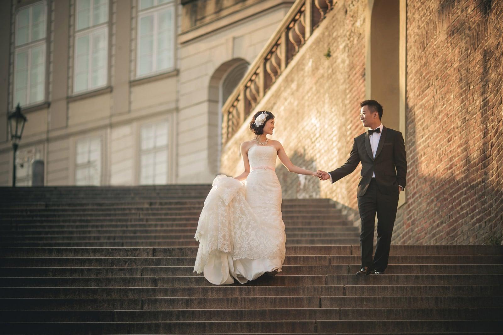 Prague pre wedding / Suki & Steven / portraits at Prague Castle