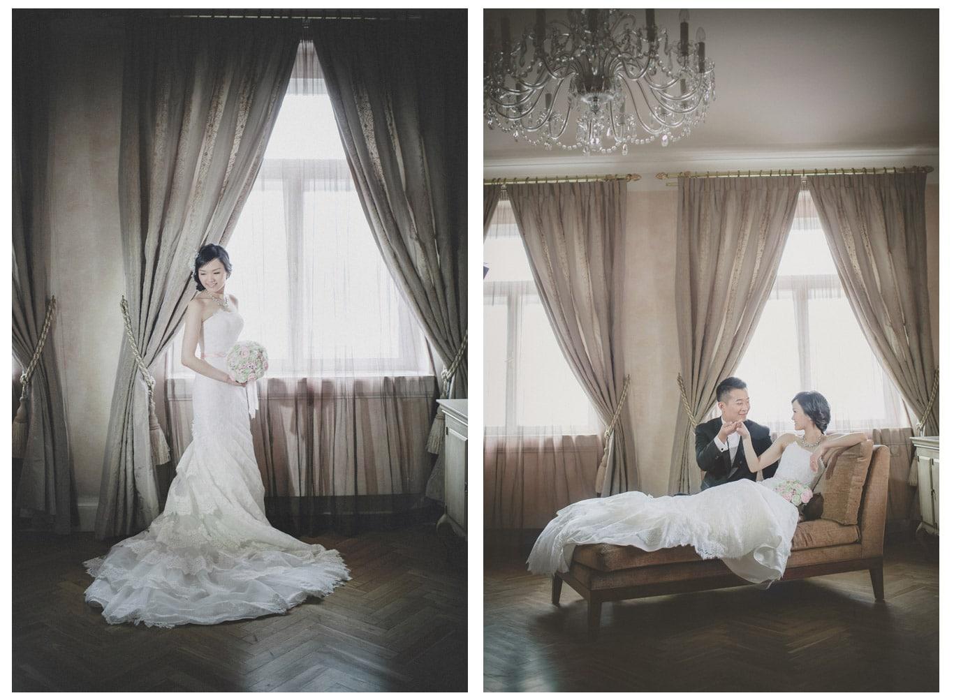 Prague pre wedding / Suki & Steven / portraits at the Pachtuv Palace