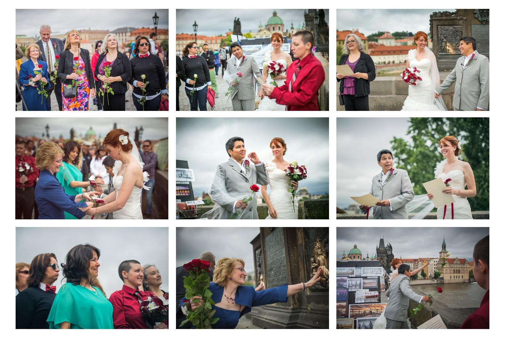 Charles Bridge Wedding / Kimberly & Jules / wedding party