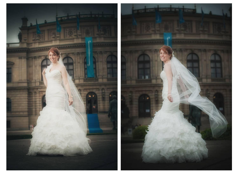 Charles Bridge Wedding / Kimberly & Jules / Rudolfinum bridal wedding portraits