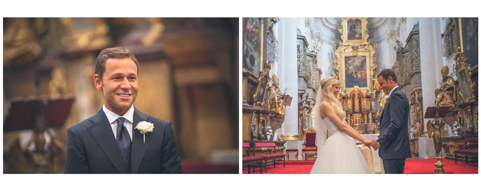 Prague St. Thomas Church: Julia+Sergio wedding day photography