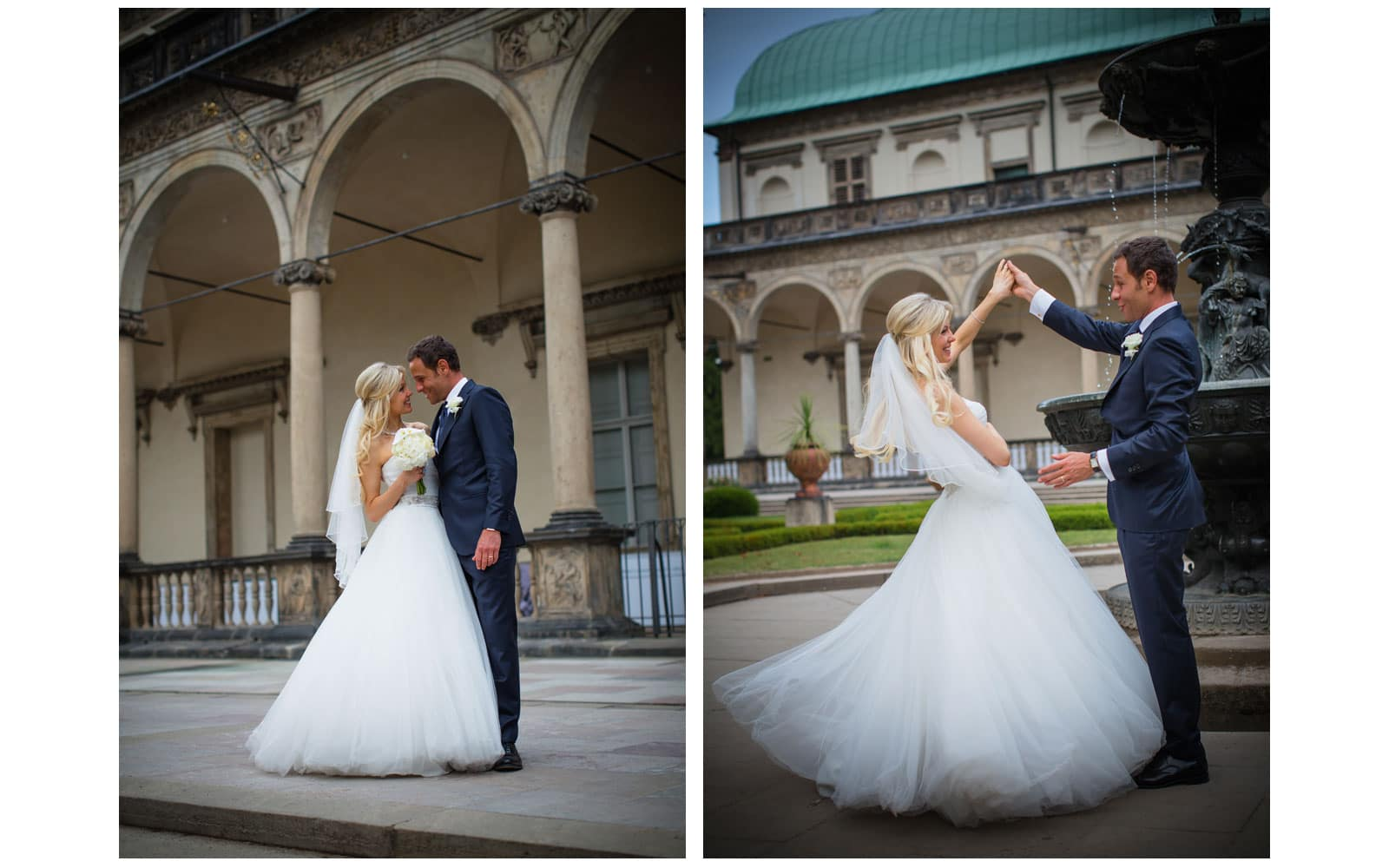 Prague St. Thomas Church: Julia+Sergio wedding day photography at Prague Castle