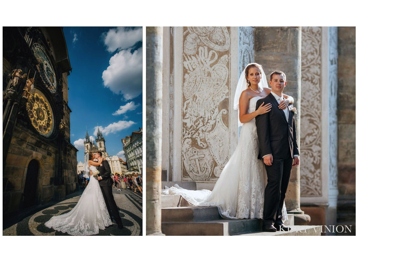 Castle Konopiste wedding / Oksana & Vladislav wedding day photography at Old Town Square