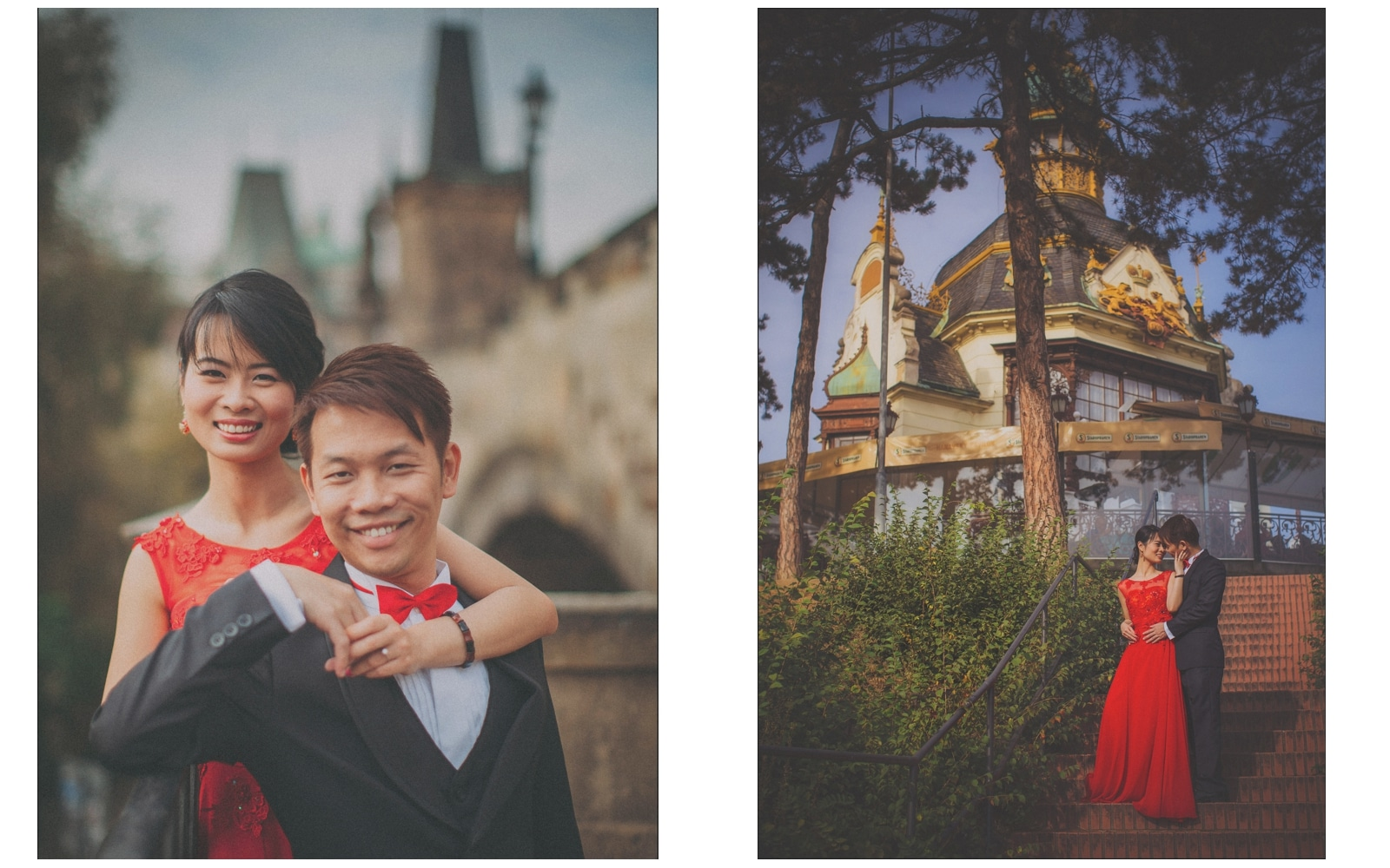 Prague pre wedding / Sharon & Danny Fall portraits session