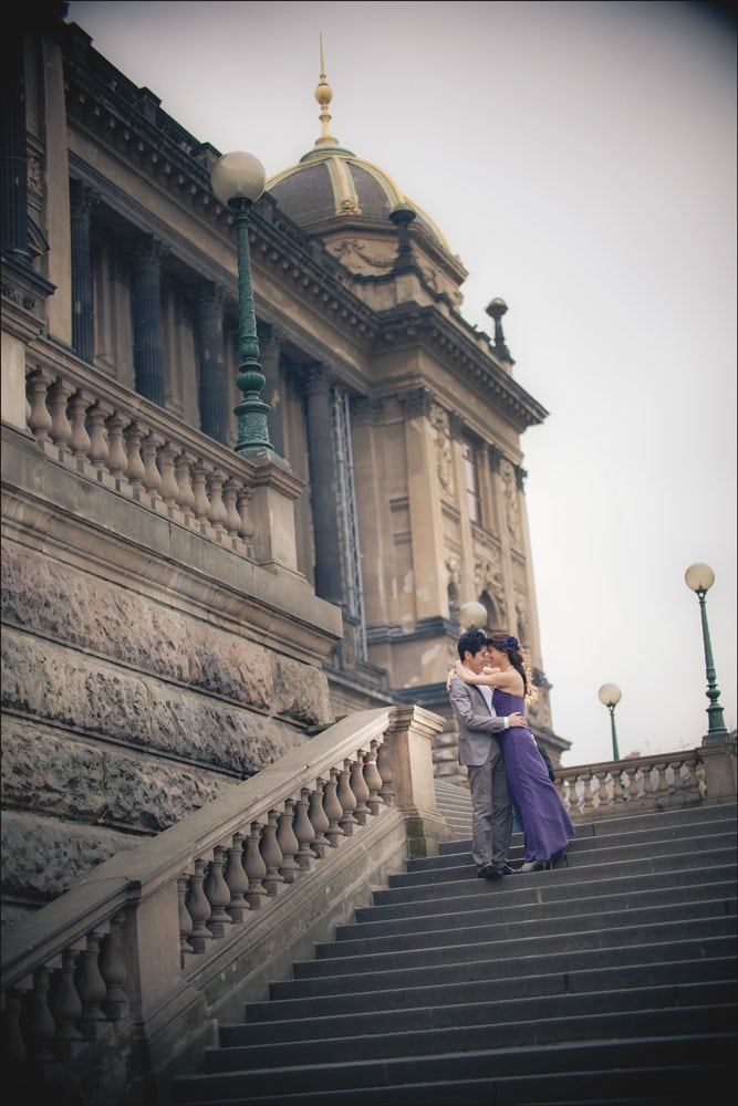 Prague pre wedding / Winona & Erik / portraits at Wenceslas Square (Muzeum)