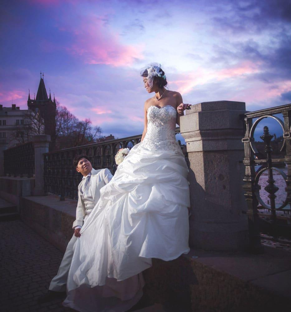 Prague pre wedding photo: Schnee & Mr. Chen photos