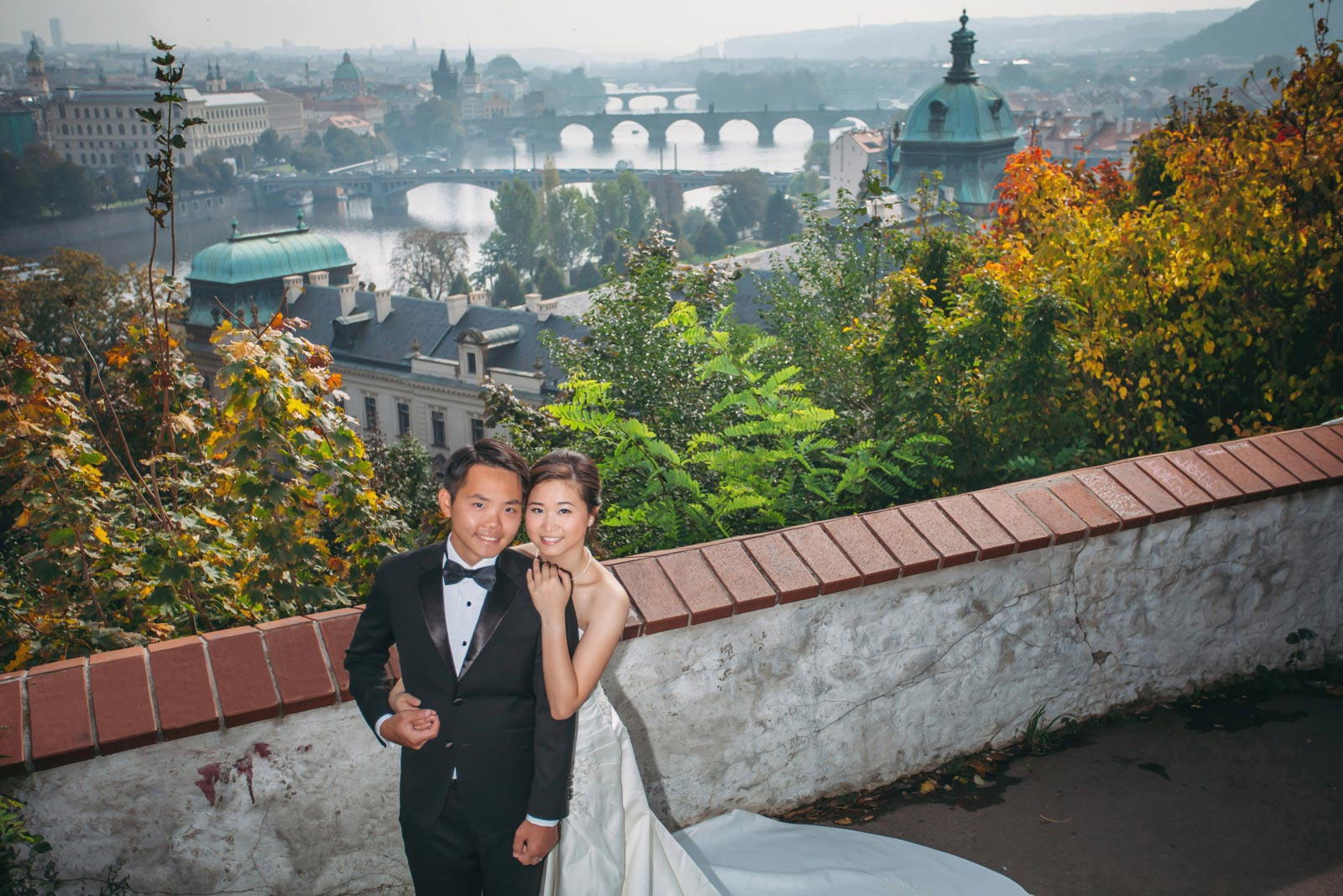 Enzo & Ray's Prague pre wedding portrait session and wedding proposal by American Luxury Fine Art Wedding Photographer Kurt Vinion.