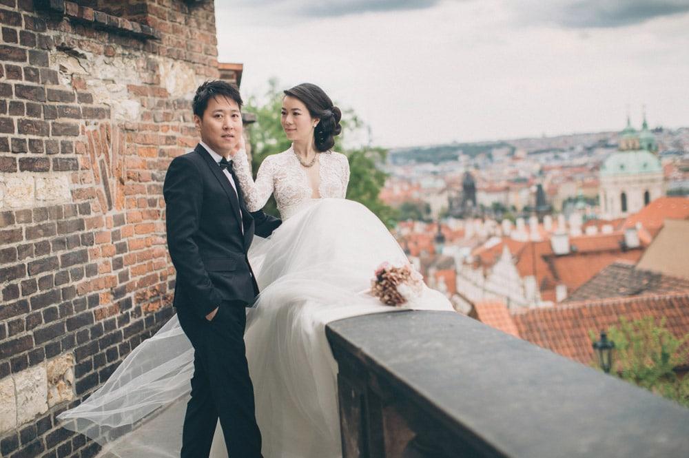 Dudu & Leo pre wedding portrait session in Prague by American Photographer Kurt Vinion.