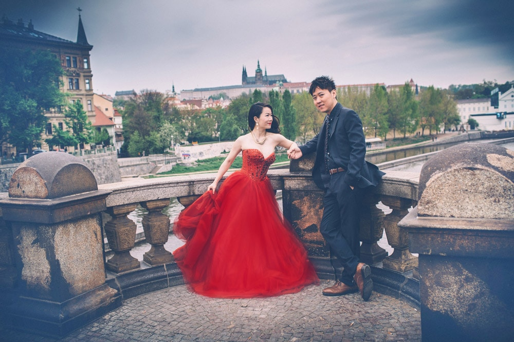 Dudu & Leo pre wedding portrait session in Prague by American Photographer Kurt Vinion.
