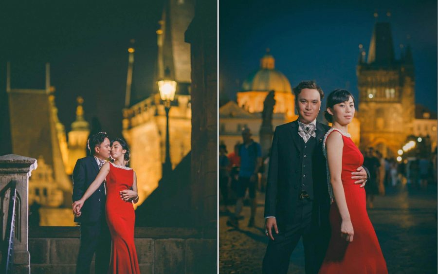 a summer pre wedding portrait session in Prague with C&L from Macau, by American photographer Kurt Vinion