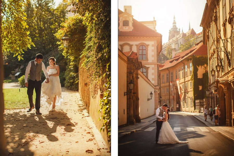 T+P / pre wedding portrait session in Prague