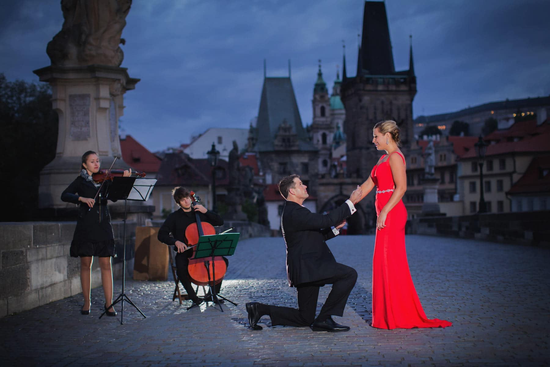 Lauren & Gustav's marriage proposal in Prague