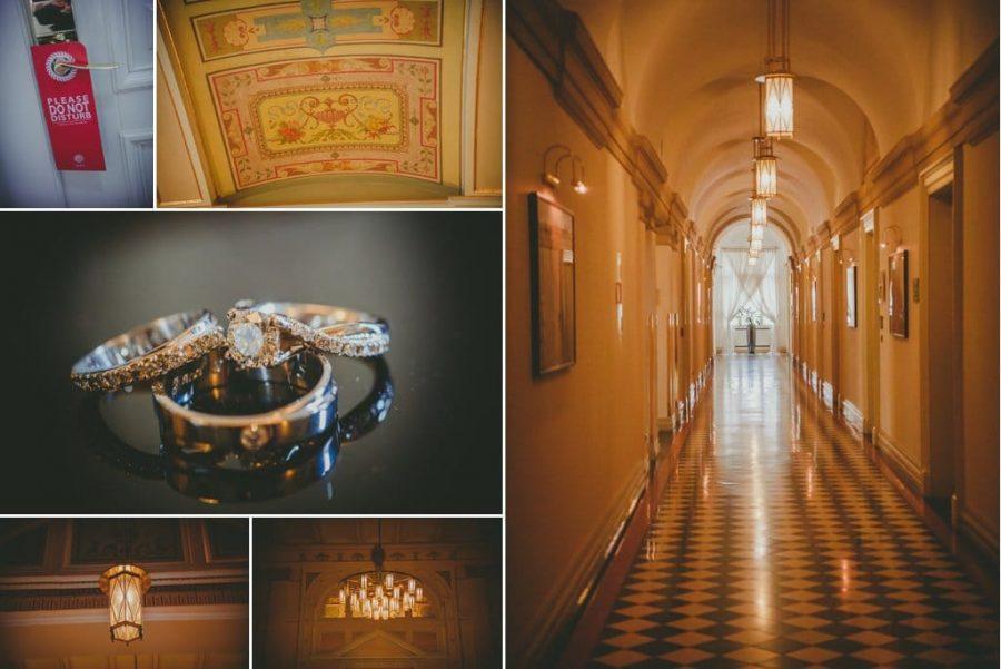 J&J wedding day photography captured at the Boscolo Prague luxury hotel