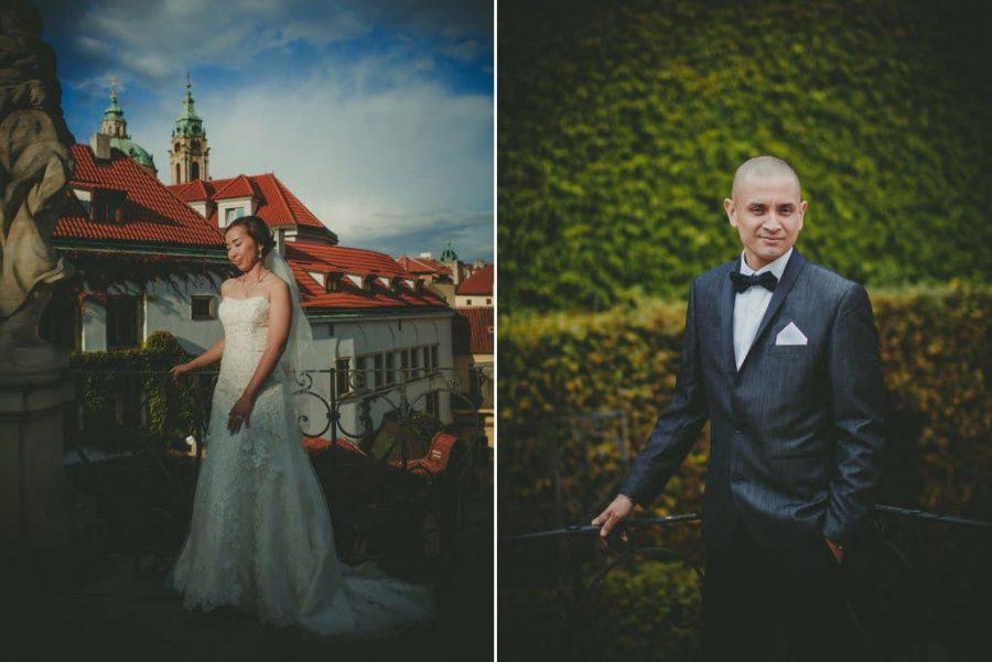 destination weddings Prague / J&J wedding photos from Vrtba Garden / captured by American photographer Kurt Vinion