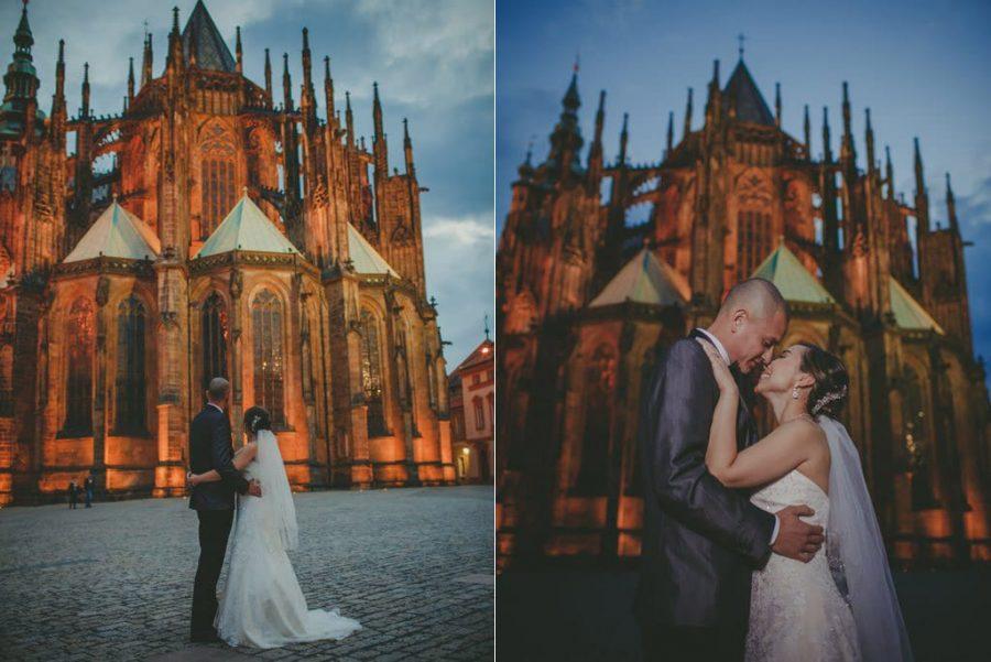 Prague weddings / J&J / wedding photos from Prague Castle / captured by American photographer Kurt Vinion