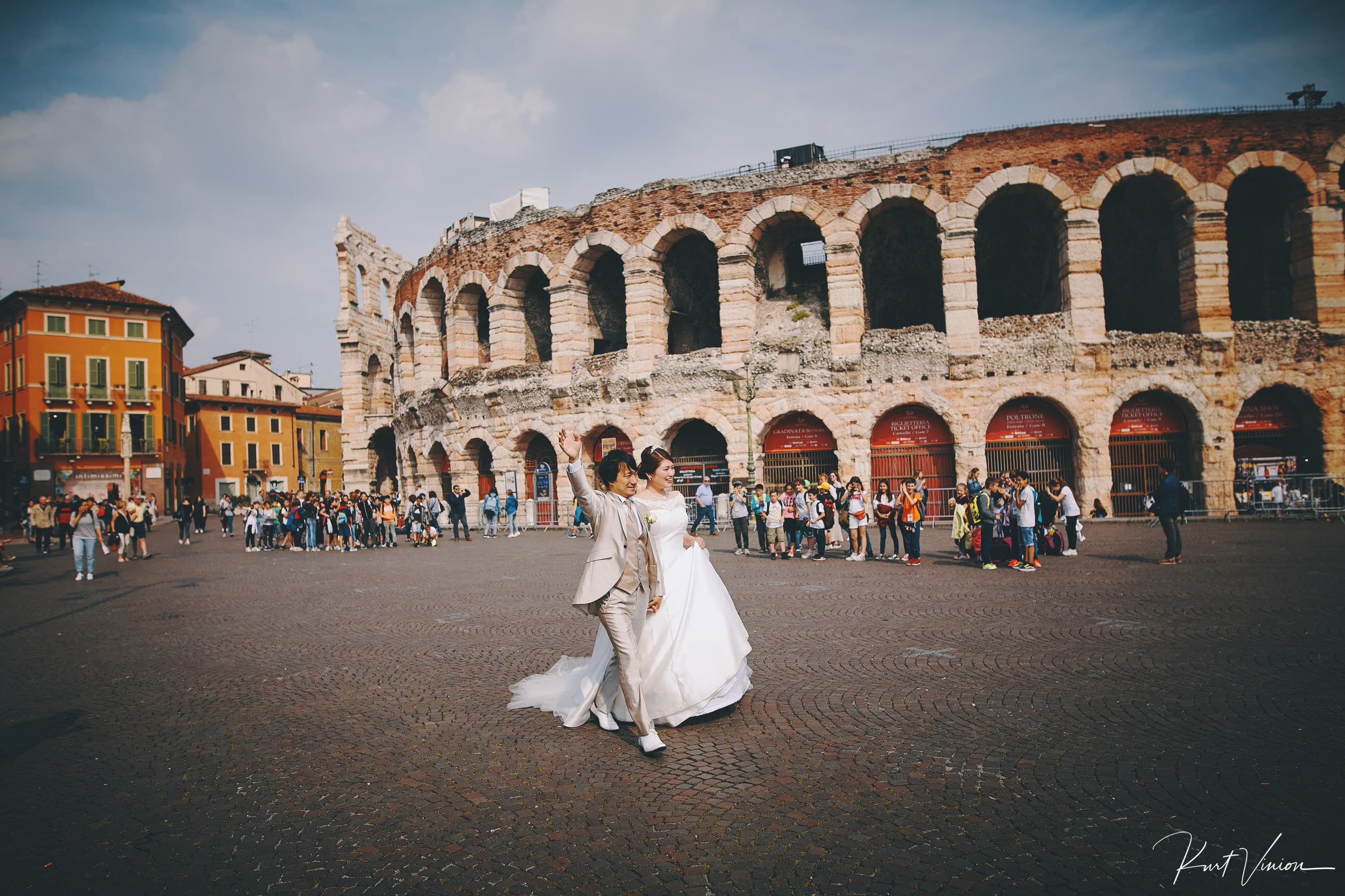 Verona Italy wedding photographers E+D elopement wedding