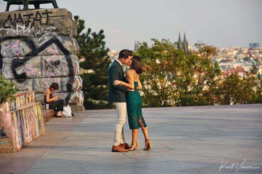 A romantic marriage proposal at Prague Castle - Prague
