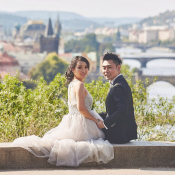 Prague Engagement Photos –  A Love Story with Snow & Hein