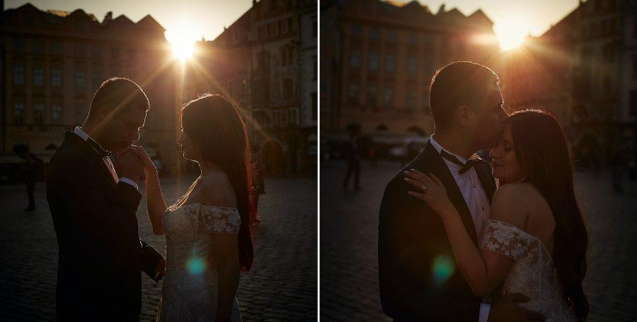 Sun flard bride & groom portraits