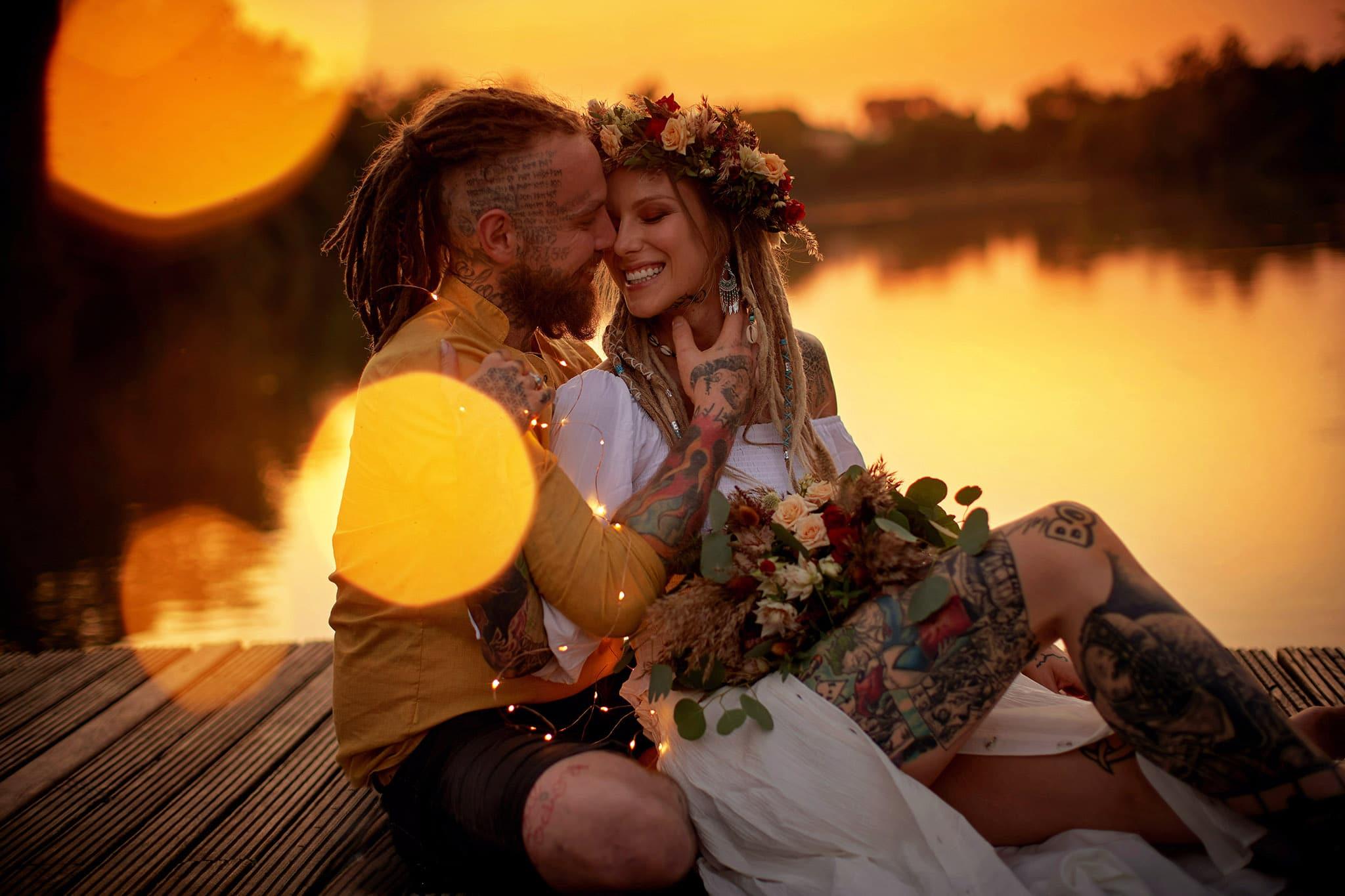 Sunset Boho styled Love Story